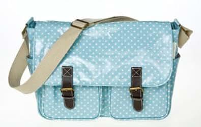 Blue Polka Dot Cross Body Satchel Shoulder bag