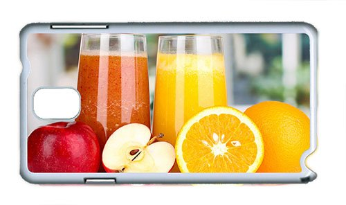 Cute Samsung Note 3 Case Diy Cover Nutritious Juice Apples Oranges Pc White For Samsung Note 3/Samsung N9000 front-895968