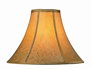 Lite Source CH1156-16 16-Inch Lamp Shade, Gold