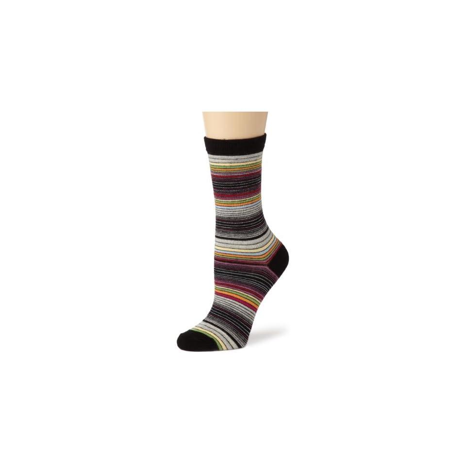 K. Bell Socks Womens Merino Wool Blend Crew Socks, Black, One Size