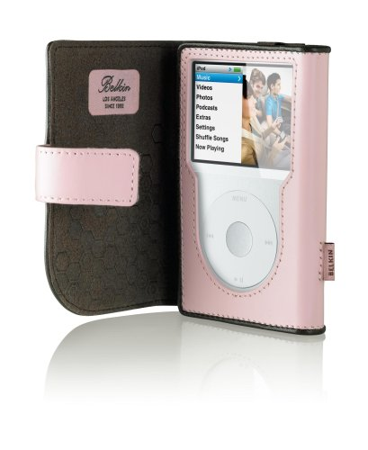 Belkin iPod Classic Leather Folio - Cameo Pink/Chocolate