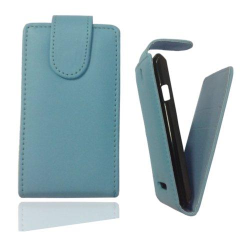 Flip Case Tasche Hülle Etui Handytasche in türkis für Samsung Galaxy Trend GT-S7560 / S Duos GT-S7562 / Plus GT-S7580 / S Duos 2 GT-S7582 inkl. World-of-Technik Touchpen