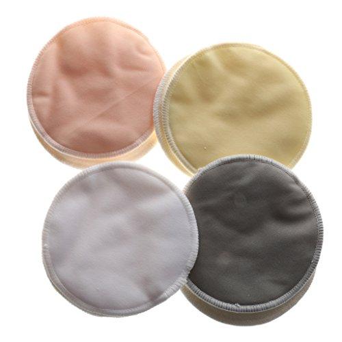【ノーブランド品】育児 母乳パッド ベビー コットン 洗濯可能 乳パッド ふわふわ 柔らかい 8枚