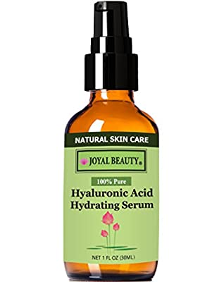 Top 1 Rated Hyaluronic Acid Hydrating Serum 100 Pure by Joyal Beauty. The Purest Form. All Natural. Vegan. Alcohol-free.Chemical-free. Premium Hyaluronic Acid for Younger, Firmer and Plump Skin.