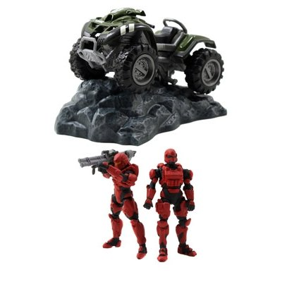 Halo 4 UNSC Mongoose Die Cast Vehicle with 2 Figures