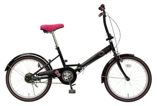 Hello Kitty 20 inches Folding Bikes Bicycle Rhinestone Black NEW FDV200-04-BK