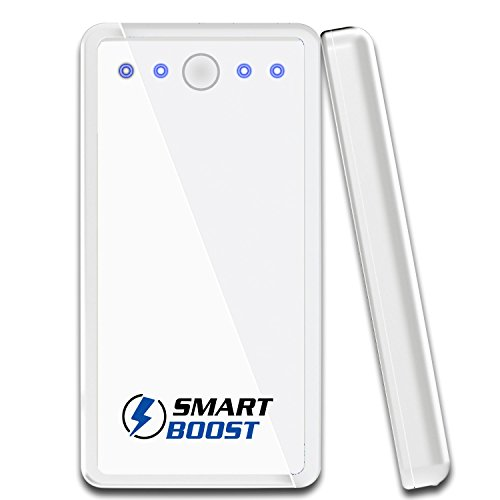 Smartboost Mobile Charger W/ Led 10000Mah Power Bank Portable External Rechargeable Battery For Iphone 5S, 5C, 5, 4S, Galaxy S5, S4, S3, Note 3, Nexus 4, Htc One, One 2(M8), Droid, Moto X, Ps Vita, Gopro, Nokia & Most Smartphones. Charges Ipad 1, 2, 3, Ai