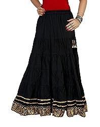 Sringar Women's Skirt (As1049_Black_40)