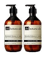DR BOTANICALS Set Desmaquillador 2 Uds. Cleanse & Tone 200 ml