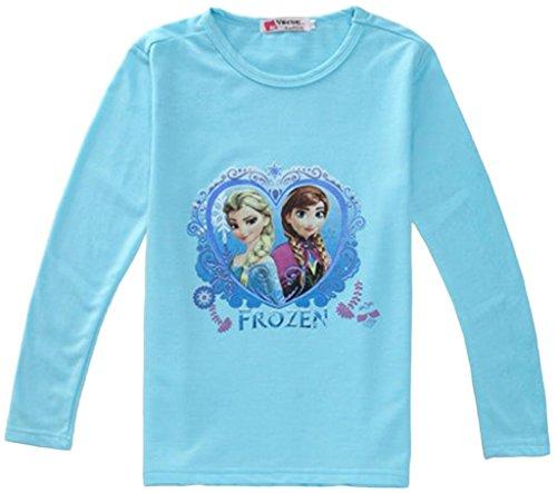 Eyekepper-camiseta-blusa-Frozen-Anna-Elsa-reina-de-las-nieves-purpurina