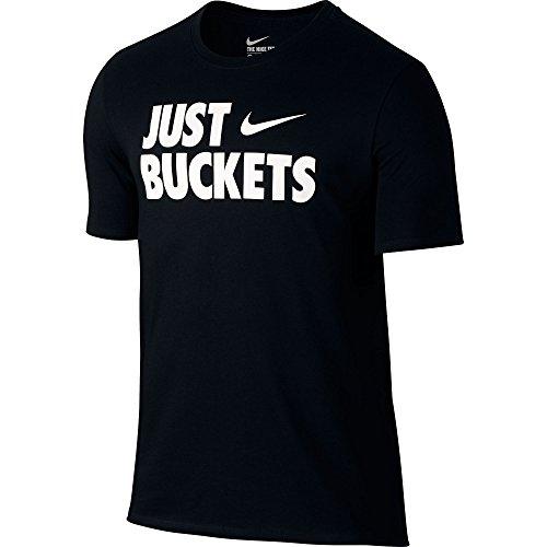"Nike Core ""Just Buckets"" Men's Basketball T-Shirt Black/White 806937-010 (Size 2X)"