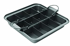 Chicago Metallic Slice Solutions Brownie Pan, 9-Inch by, 9-Inch by 2.75-Inch