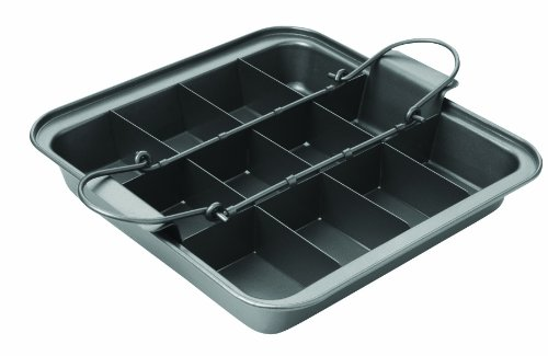 Chicago Metallic Slice Solutions Brownie Pan, 9-Inch by, 9-Inch by 2.75-Inch (Divided Brownie Pan compare prices)