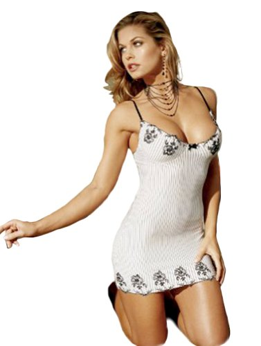 Embroidered Pinstripe Babydoll
