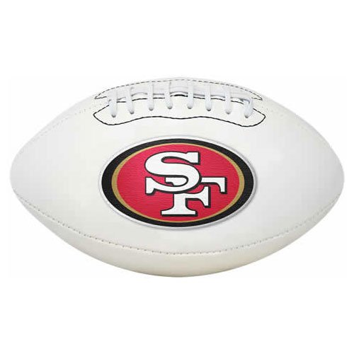 NFL San Francisco 49ers Signature Series Team Full Size Football (Rawlings Footballs compare prices)