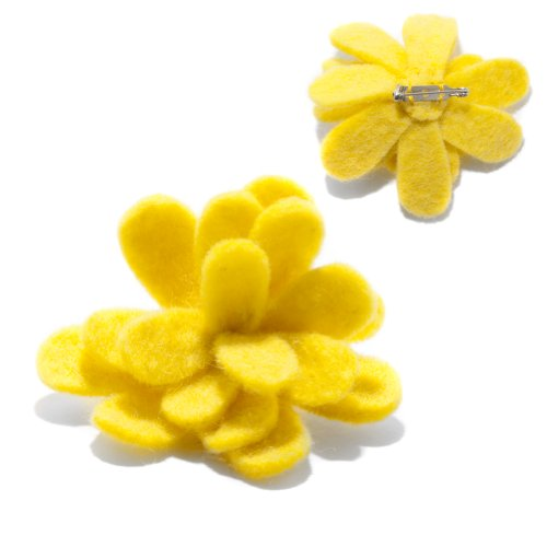 Yellow Flower Pin: Handmade & Fair Trade