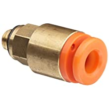 SMC KQ2H05-32A Brass Push-to-Connect Tube Fitting, Adapter, 3/16&#034; Tube OD x 10-32 UNF Male