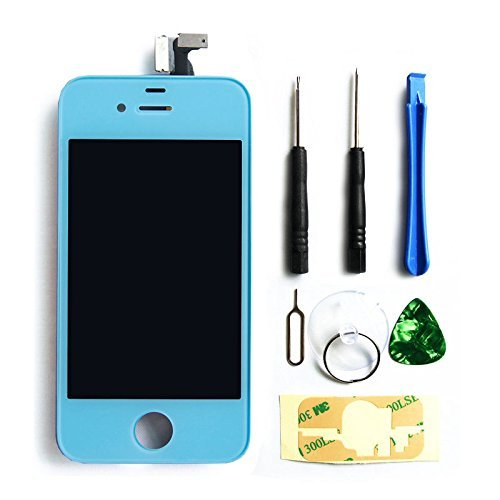 Ztr Replacement Lcd Touch Screen Digitizer Assembly For Iphone 4S Sky Blue
