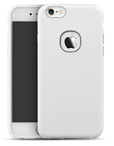 iPAKY Leather Soft Series Flexible TPU Case Cover For Apple Iphone 6 6s – White