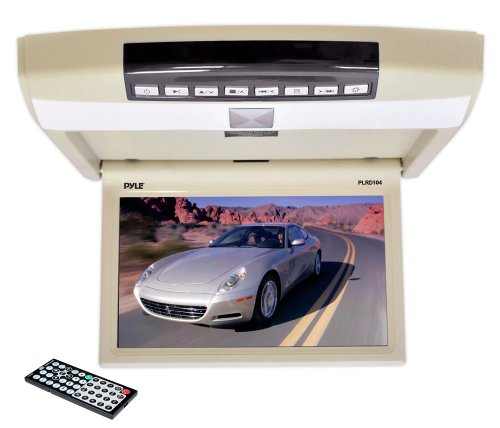 Pyle PLRD104 10.4-Inch Flip Roof Mount Monitor and DVD Player with Wireless FM Modulator/IR Transmitter