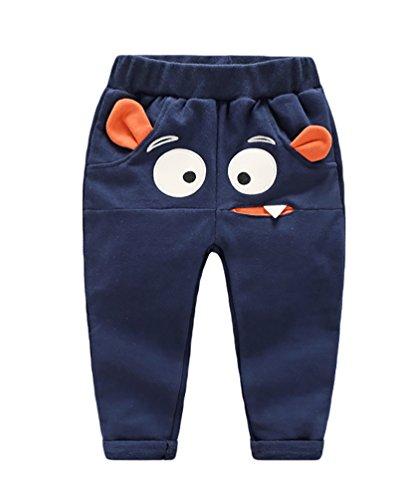 baymate-bambini-cartoon-stampa-lungo-pantaloni-ragazze-casual-pull-up-jogginghose-elastico-cintura-b