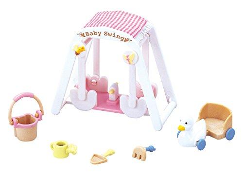 "Epoch Sylvanian Families Sylvanian Family Doll ""Baby Swing Set F-208"" - 1"