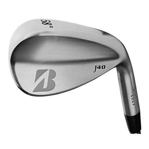Bridgestone Golf Men'S J40 Satin Chrome Wedge (Right Handed,Spinner Wedge, Stiff, 56 Degrees)