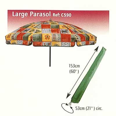 Bosmere premium Large Parasol Waterproof Protective Storage Cover C590