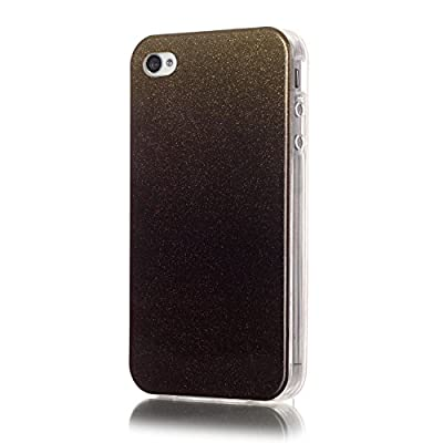 Iphone 4 Case, JAHOLAN Flower Clear Edge TPU Soft Case Rubber Silicone Skin Cover for iphone 4S 4 from JAHOLAN