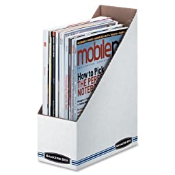 Bankers Box Corrugated Cardboard Magazine File, Inexpensive storage for magazines, files and more