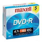 Panasonic VDR-D300 Camcorder DVD-R 16x 4.7 GB 120 Minute Recordable Disc - (5 Pack)