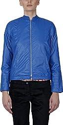 Baba Rancho Women's Regular Fit Jacket (Lj 00212_L, Blue, L)