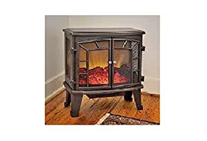 Duraflame 950 Bronze Electric Fireplace Stove With Remote Control Dfs 950 6 Home