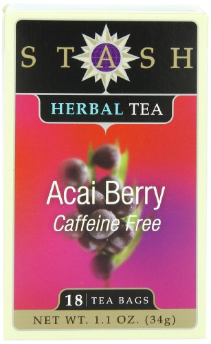 Stash Tea Acai Berry Herbal Tea, 18 Count Tea Bags In Foil (Pack Of 6)