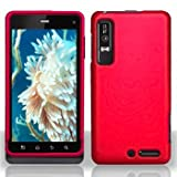 Red Rubberized Hard Plastic Case for Motorola Droid 3 XT862