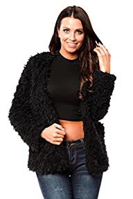Long Sleeve Faux Fur Coat Jacket