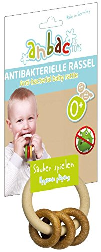 Anbac Baby Rattle Natural