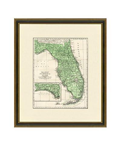 Antique Map of Florida, 1937
