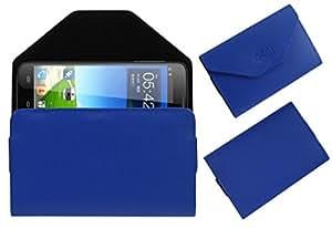 Acm Premium Pouch Case For Haier W919 Flip Flap Cover Holder Blue