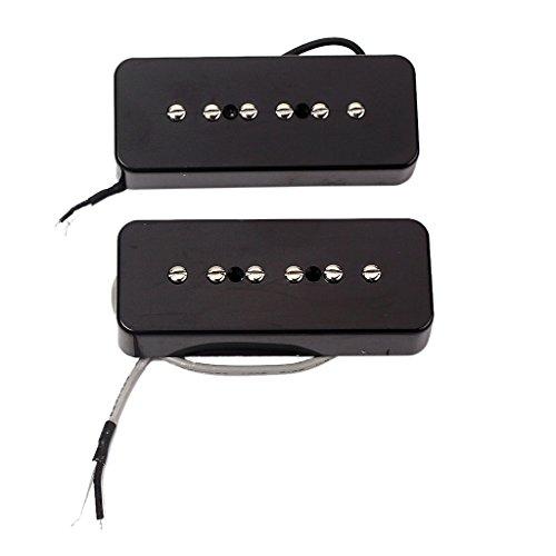 2pcs-black-soap-bar-humbucker-pickup-50-52mm-pole-for-guitar-p90