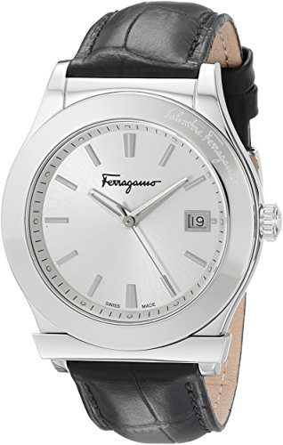 Salvatore-Ferragamo-Mens-FF3930014-1898-Stainless-Steel-Watch-with-Black-Leather-Strap