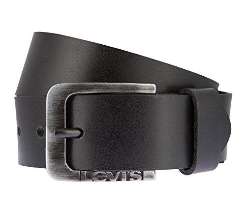 LEVIS Cintura di uomini Cintura di Pelle nero 2659, Länge:85 cm;Farbe:schwarz