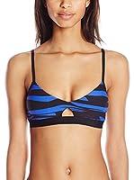 Seafolly Sujetador de Bikini Fastlane Bralette (Azul)
