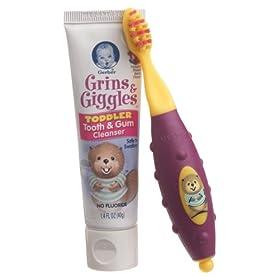 嘉宝婴儿牙刷牙膏$0.49 第三方