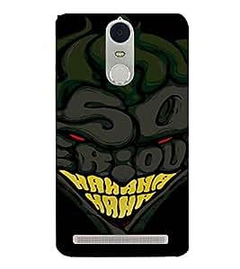PrintVisa Cartoon Joker Design 3D Hard Polycarbonate Designer Back Case Cover for Lenovo K5 Note