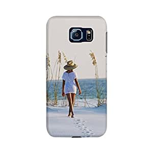 Samsung Galaxy S6 Designer Printed Case & Covers (Samsung Galaxy S6 Back Cover) - Sexy Girl Sea Alone