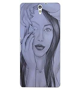 ColourCraft Creative Sketch Design Back Case Cover for SONY XPERIA C5 ULTRA