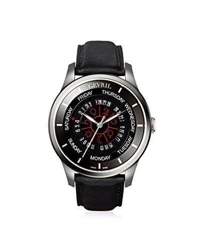 Gevril Men's 2006 Columbus Circle Black Leather Watch