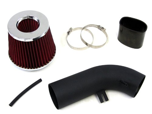10-12 Audi A3 2.0L Diesel Turbo Black Cool Ram Air Intake Kit With Red Filter front-485664