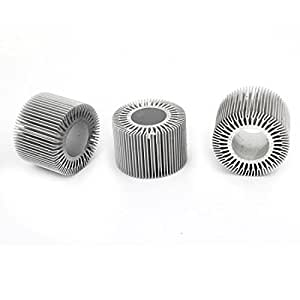 3 Pieces 58mm OD 28mm ID 40mm Height LED Light Heatsinks Cooling Fin